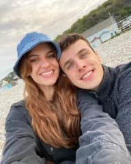 Emelie and Tom in Lyme Regis, Dorset