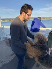 Animals really love Jonathan haha we just happened to meet this little cutie while walking on the pier.