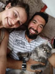 Isaac (cat), Sophie and Diego (me)