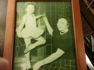 Myself... Kathryn and my mother... our world and love of dance...