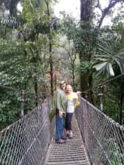 We are exploring the rain forest of Aranel, Costa Rica