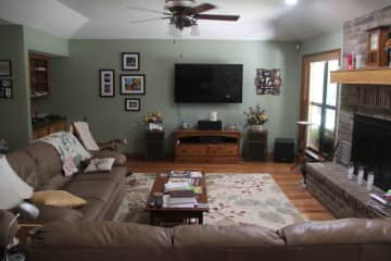 Living area with smart TV.