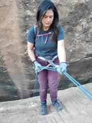 Canyon repelling in Utah!
