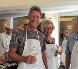 Enjoying a cooking class in Tuscany