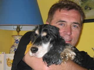 Tom with our own beloved dog Nessie