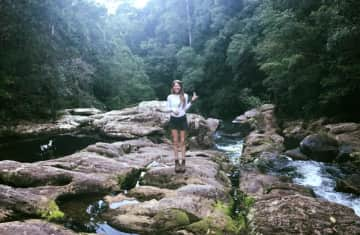 Hiking in the lush mountains of the Northern Rivers region of eastern Australia