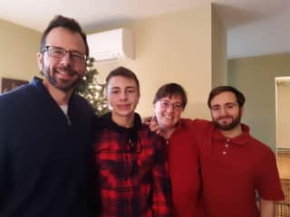 Family Pic of Ross, Ben, Me, and Ryan