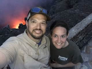 Adam and Lindsay at the top of an active volcano in Nicaragua!