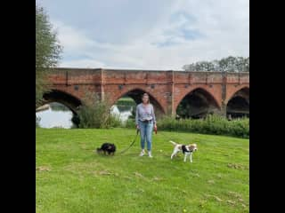 Duke and Charlie by The River Great Ouse.
