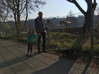 A walk with Gregor and Sophie at the Rhine river.