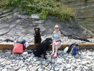 Tina and The Boyz at the beach
