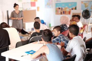 While in Greece I helped teach informal English classes - literacy, beginners, and intermediate level -  to teenagers and adults