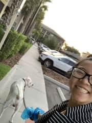 Walking Louie!