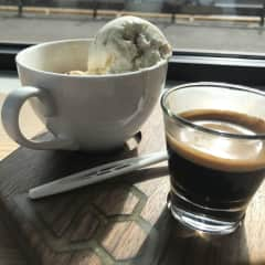 Love to sit and read in the sun with an Affogato!