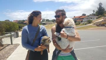Will, Ninnie, Monty (and Veterinarian friend). Bonnie only does short walks ;)