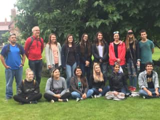 We love taking students from The University of North Texas on Summer Study Abroad!  We've been to the Uk, France, Belguim, and Germany.
