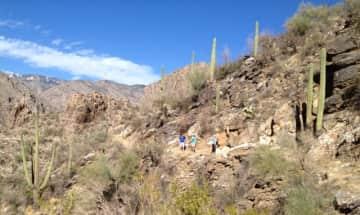 hiking at Sabino Canyon; approx. 4 miles away