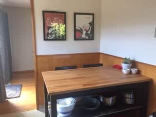 Kitchen nook / island / supervision station