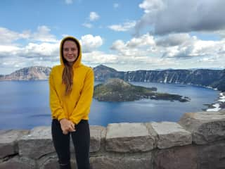 Laura on an adventure to Crater Lake