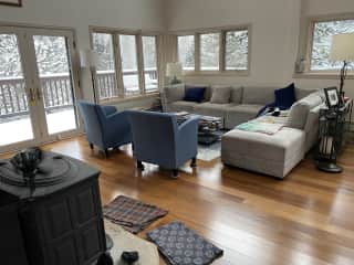 Living Room and wood stove for heating (Have radiant floor heating in addition to stove for heat)