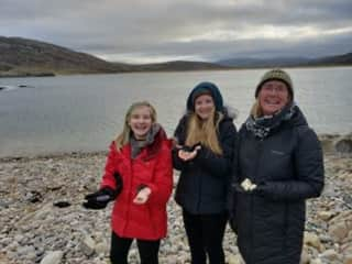 My granddaughters and I in Ireland where we housesat.