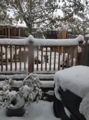 Deck with Snow