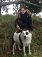 A housesit pet in Auckland, Dottie with Kalika, 2016