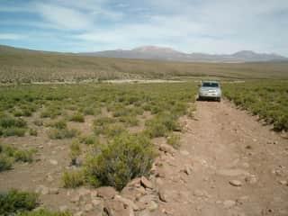 Crossing Atacama desert north Chile