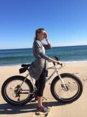 Fat biking on the beach here is another fun off season thing to do (when the weather co operates that is!)