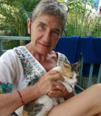 Véronique with KittyCat