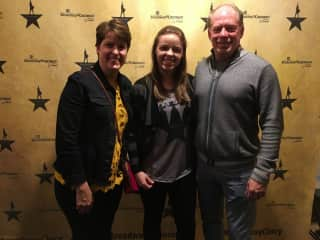 Hamilton musical at Aronoff with daughter and boyfriend