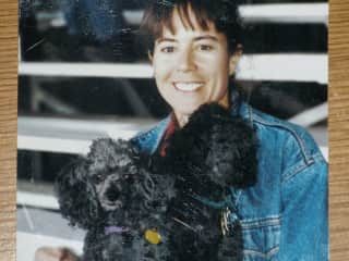 Me with my two toy poodles - Shadow and Xena