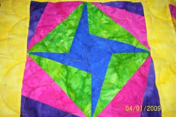 I also quilt, this is a block from one of my quilts.