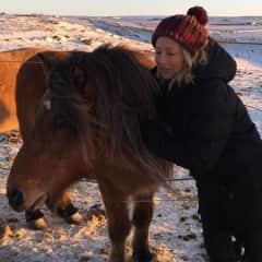 Me with Icelandic horses