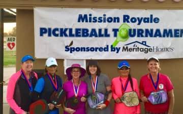 Medal Winners in pickleball tournament