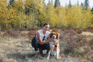 Wookie & I on a fall hike