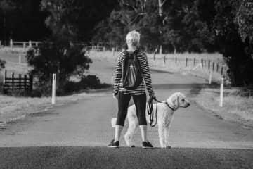 Morning walk with Mervyn
