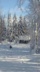 Barn and rear property in winter