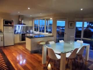 Upstairs kitchen & dining