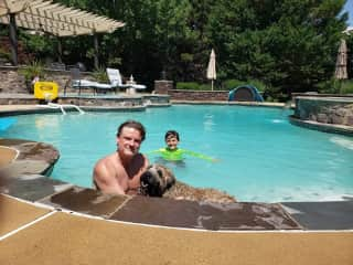 Pet sitting Murphy last summer in Virginia.  Active and loving young boy to play, pet, snuggle, etc.  (parents are pretty good, too)  Also note: reliable caretakers of your home, pool, plants, etc.