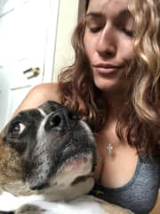 Me and my moms dog Cooper