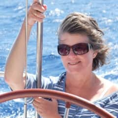 Me, at one of my favourite pursuits - sailing.