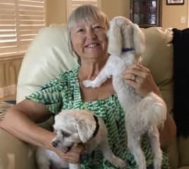 Margie with Angel and Barnie