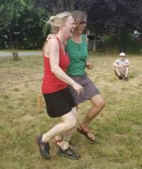 Backyard Game Day!! Three legged race