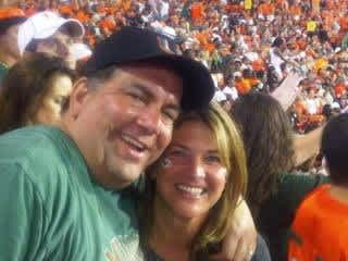 Jed and Cindy - U of Miami Football