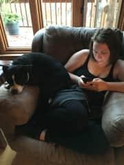 Stella and I like to snuggle