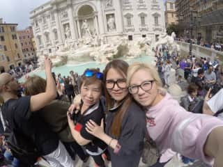 With family in Italy.