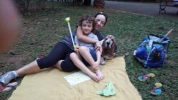 Nicolas, Cuca and I in the park
