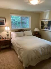 Guest bedroom, queen sized bed