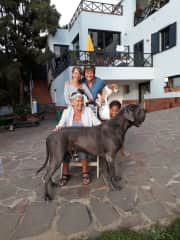 Michelle&me,my mother,Tina and pet dog